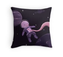 Wee Baby in Space Throw Pillow