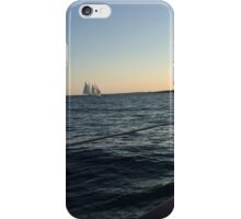Newport Sailboat at Sunset iPhone Case/Skin