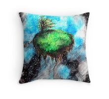 serenity in space Throw Pillow