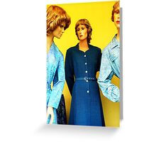 mannequin group Greeting Card