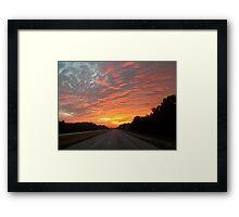 Morning Fire Framed Print