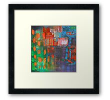 purple urban landscape Framed Print