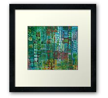 Random buildings La Antena Framed Print