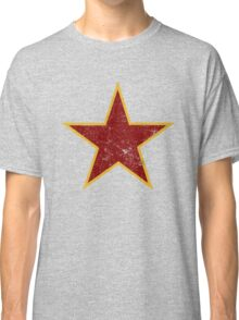 Vintage look Red and Gold Star Classic T-Shirt