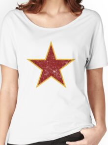 Vintage look Red and Gold Star Women's Relaxed Fit T-Shirt