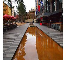 City Square on a wet day Melbourne VIC Australia Photographic Print