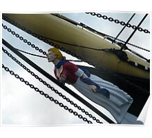 Tall Ship...The Glenlee figurehead Mary Doll Poster