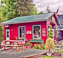 The Coffee Mill Café - Honeymoon Bay BC on Vancouver Island by Daphne Eze