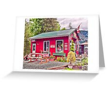 The Coffee Mill Café - Honeymoon Bay BC on Vancouver Island Greeting Card
