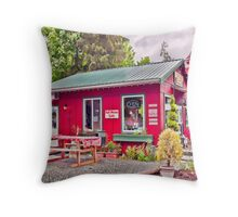 The Coffee Mill Café - Honeymoon Bay BC on Vancouver Island Throw Pillow
