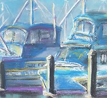 Harbor Pair (pastel) by Niki Hilsabeck
