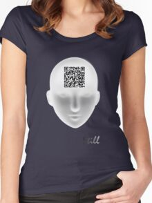 Still ~ QR Code Women's Fitted Scoop T-Shirt