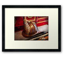 Fireman - Hat - Commander  Framed Print