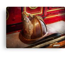 Fireman - Hat - Commander  Canvas Print