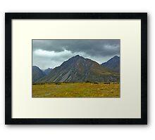 Hooker Valley New Zealand Framed Print