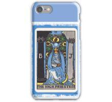 High Priestess Blue Tarot Card Fortune Teller iPhone Case/Skin