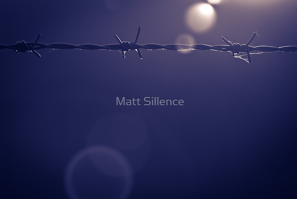 Barbed Wire Sunset in Shropshire by Matt Sillence