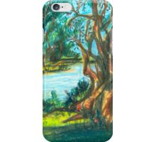 small pond with trees iPhone Case/Skin