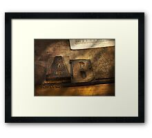 Graphic Artist - AB Framed Print
