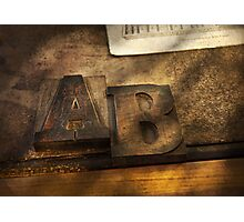 Graphic Artist - AB Photographic Print
