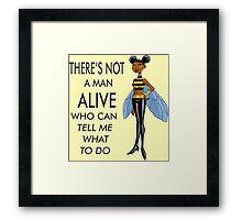 Bumblebee the Feminist Framed Print