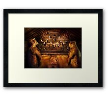 Taxidermy - Home of the three bears Framed Print