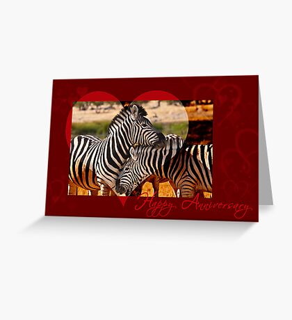 Anniversary Love in black and white Greeting Card