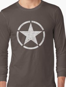 Vintage look US Army Star Long Sleeve T-Shirt