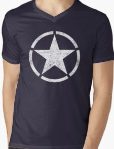 Vintage look US Army Star Mens V-Neck T-Shirt