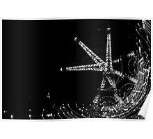 Fallen Eiffel Tower  Poster