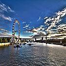 The London Eye and the Thames by joasis