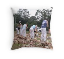 Woodchoppers Throw Pillow