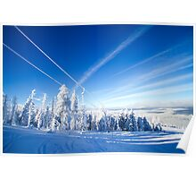 Blue and White World - Winter in Poland Poster