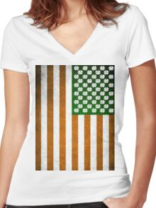 Irish American 015 Women's Fitted V-Neck T-Shirt