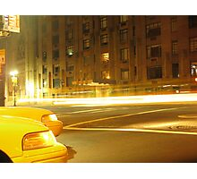 Upper West by taxi Photographic Print