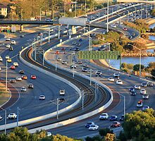Kwinana Freeway from King's park by Charles Kosina