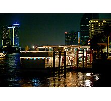 Dock Side Dinner Cruiser Photographic Print