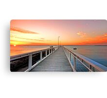 Sunrise on the Jetty - Wellington Point Qld Canvas Print