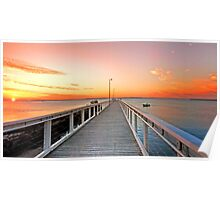 Sunrise on the Jetty - Wellington Point Qld Poster