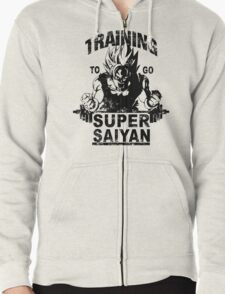 Training to go super saiyan - Vintage Zipped Hoodie
