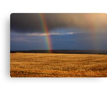 Gold...at the end of the Rainbow Canvas Print