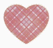 Faded Pink Tartan Heart Kids Clothes