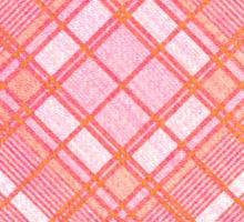 Faded Pink Tartan Heart Sticker