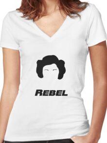 Rebel Women's Fitted V-Neck T-Shirt