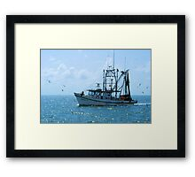 Shrimp Boat Jimmy T Rockport TX Framed Print