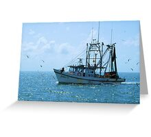 Shrimp Boat Jimmy T Rockport TX Greeting Card