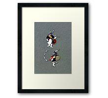 Korean Dancers Framed Print