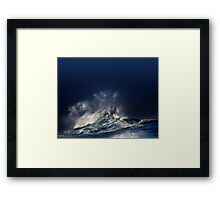 Winter Waves At Waimea Bay Framed Print