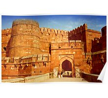 Entrance to The Red Fort - Agra Poster