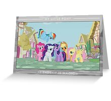 Friendship is Magic - Group Photo Greeting Card